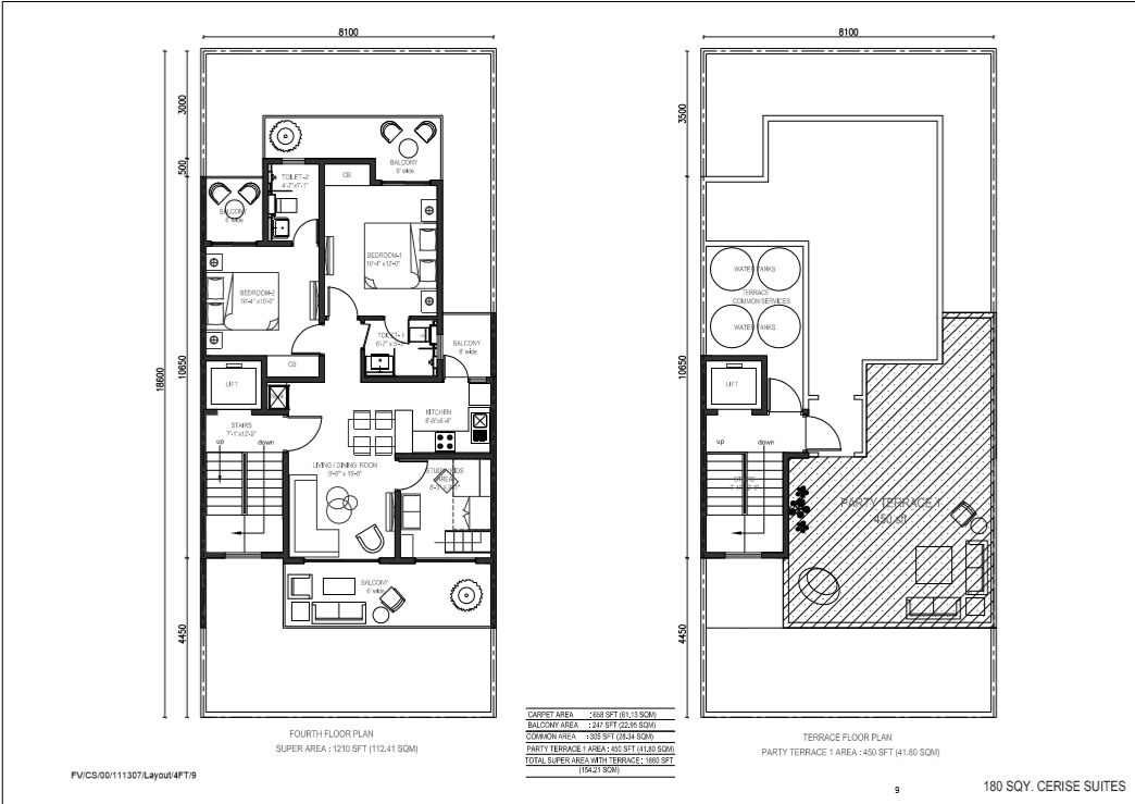 180 sqy fourth floor & terrace floor plan (2)
